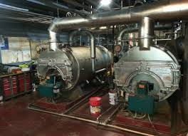 A large boiler system such as one which might utilize float switches.