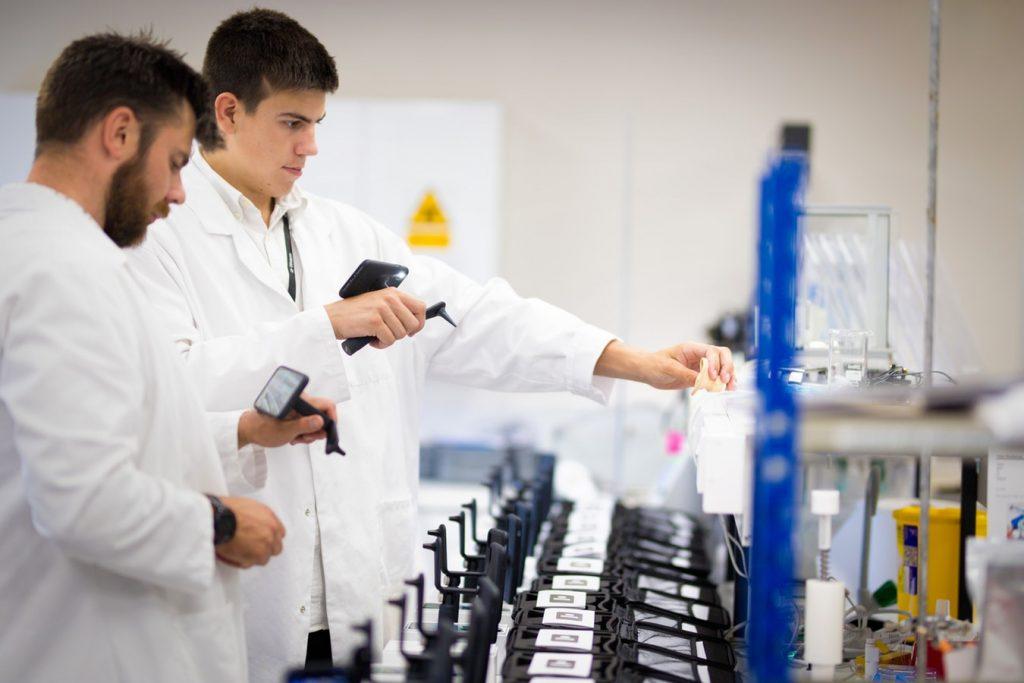 man in pharma lab